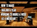 How To Make $60,000 A Year Working 25 Hours A Week As A Musician