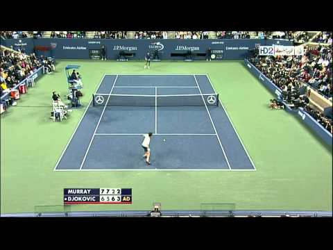 Andy Murray Vs Novak Djokovic US Open 2012 Final Best Point HD