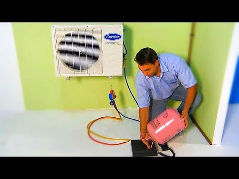 R410A - Vacío, Prueba Nitrogeno y Carga de Refrigerante - Aire Acondicionado Split