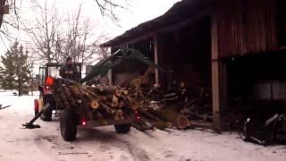 przyczepa do zwozki drewna/rückewagen