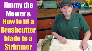 How to fit / change a brush cutter blade - Stihl strimmer weed whacker brush knife workshop tutorial