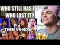 Female Singers : Then VS Now (Same Song!!!) REACTION