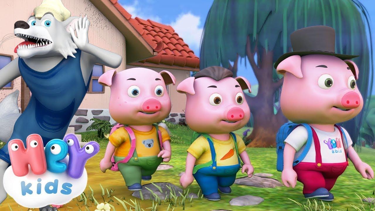 Trzy Małe Świnki bajka dla dzieci 🐷 Bajki na dobranoc | HeyKids