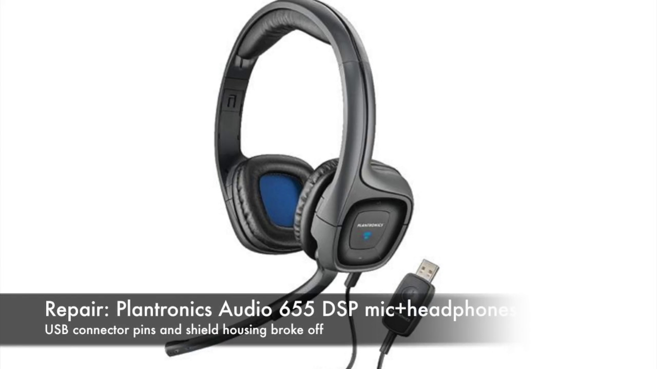 small resolution of repair plantronics audio 655 dsp headphone usb broken off