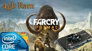 Far cry Primal Gameplay Q6600 4gb ram HD 7770