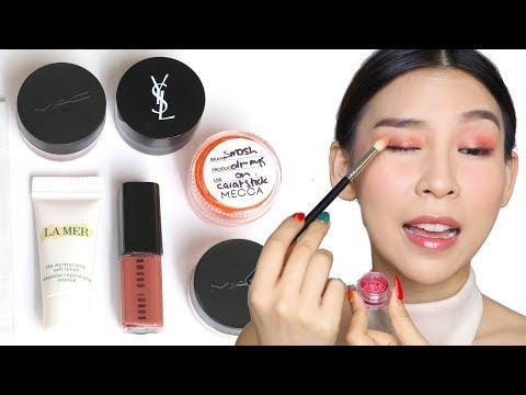 Full Face of Makeup using Free Samples! Tina Tries It