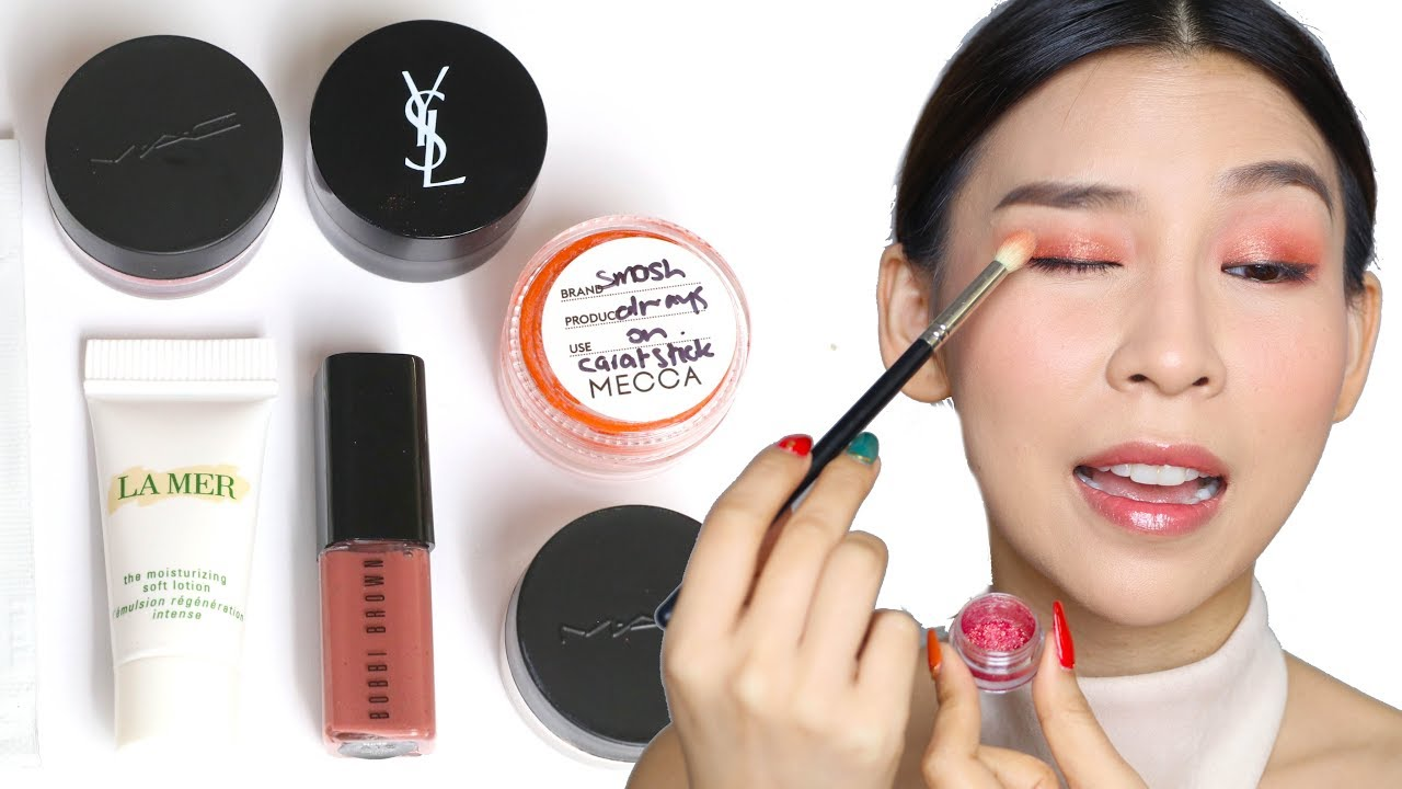 Full Face Of Makeup Using Free Samples Tina Tries It Youtube