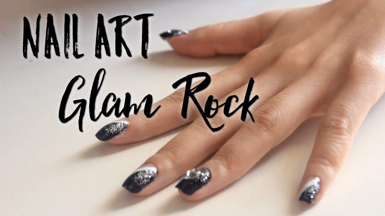 Nail Art Glam rock par Marie Nhuy - YouTube