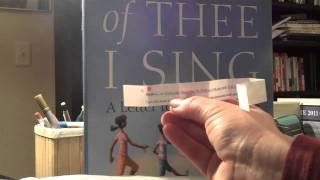 of Thee I Sing: A Letter to my Daughters (Random House, 2010) -- Book Giveaway