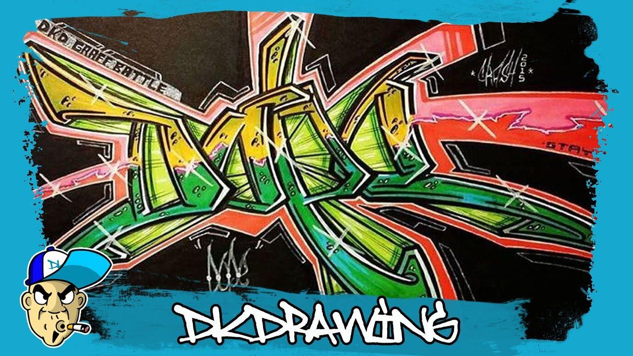 Dkdrawing graffiti battle winners dope 8 youtube