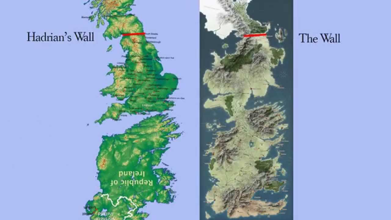 Map Of Ireland England.Game Of Thrones Westeros Is The Uk And Ireland Upside Down