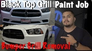 2014 Dodge Charger /Chrysler 300- Making it BlackTop Edition Grill Paint Job (Bumper/Grill Removal)