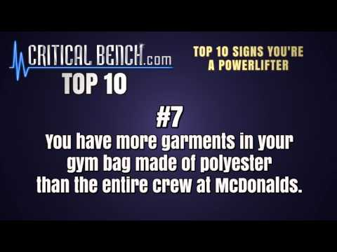 Top 10 Signs You're a Powerlifter