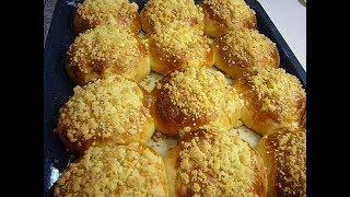 Домашние сдобные булочки, мягкие, вкусные. Дрожжевое пуховое тесто без яиц