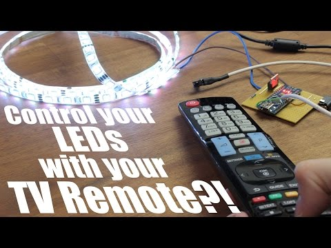 Control Your LEDs With Your TV Remote?!    Arduino IR Tutorial