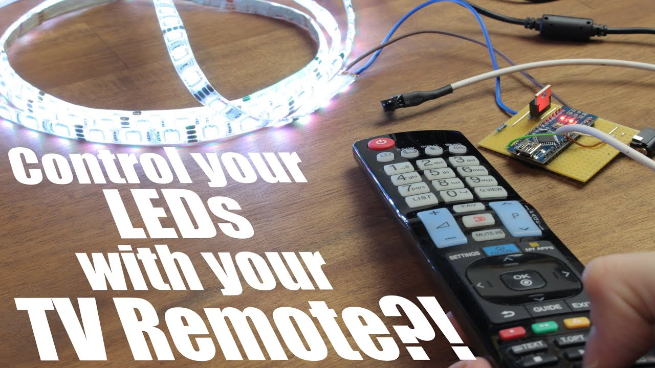 Control Your Leds With Tv Remote Arduino Ir Tutorial Youtube Receiver