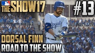 MLB The Show 17 Road to the Show | Dorsal Finn (Catcher) | EP13 | MAJOR LEAGUE DEBUT!
