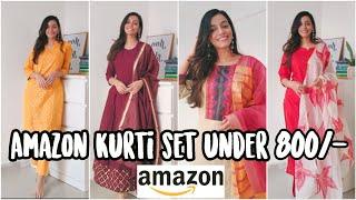 Amazon kurti set haul under 800rs Amazon Kurti Palazzo Set Review Harshala Patil