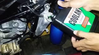 tutorial mengganti water coolant suzuki satria injeksi/FI part 1