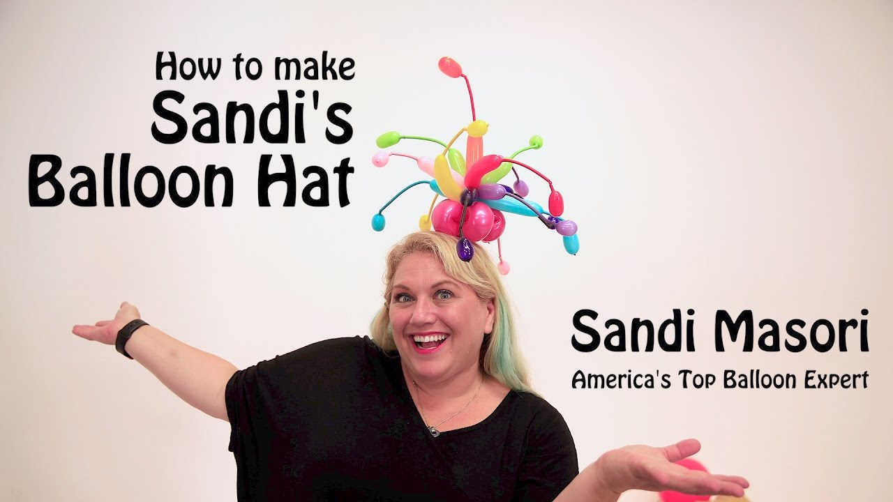 787090f0 How To Make a Balloon Hat- Sandi Style - YouTube