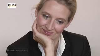 phoenix #netzrauschen: Alice Weidel (AfD) mit Jan Hendrik Becker vom 08.09.17