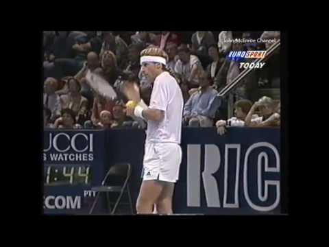 Bjorn Borg vs McEnroe SF - Basel 1995 Highlights