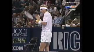 Bjorn Borg vs McEnroe SF - Basel 1995 Highlights