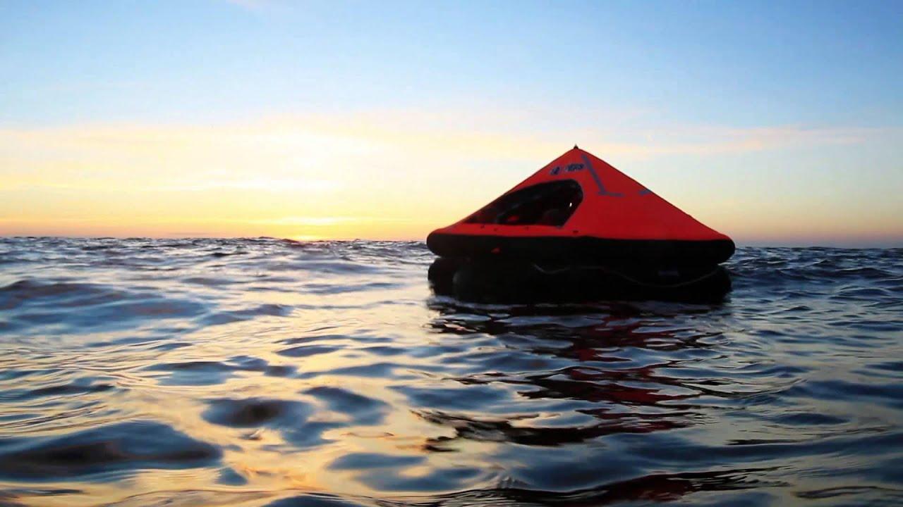 Life Raft At Sea