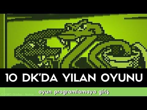 Oyun programlamaya giriş: 10 dk'da yılan oyunu