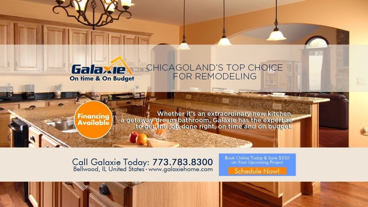 Chicago Il Kitchen Remodeling Contractor 773 825 5758 Galaxie Home Remodeling Youtube