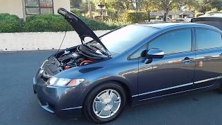 2007 Honda Civic Hybrid with leather and Navi video overview and walk around.