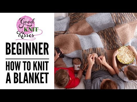 How to Knit a Blanket in Bernat Softee Chunky (CC)