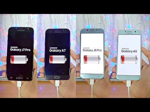 Samsung Galaxy J7 Pro (2017) vs A7 (2017) vs J5 Pro (2017) vs A5 (2017) - Battery Drain Test!