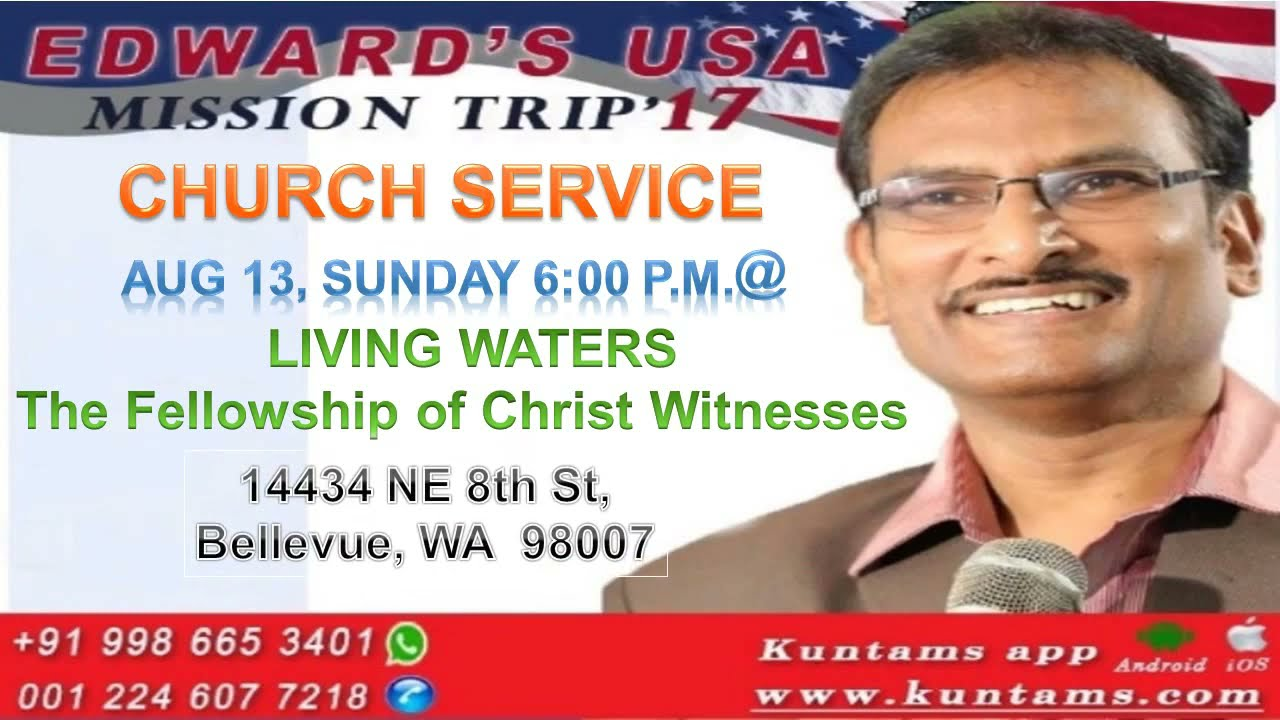 Rev Edward Williams in Seattle Living Waters FCW