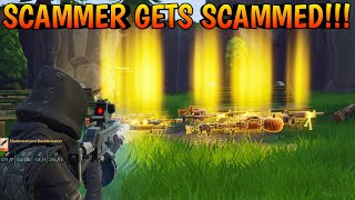 Scammer Gets Scammed For 7 Pumpkin Launchers! (Scammer Gets Scammed) Fortnite Save The World