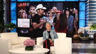 Ellen and Brad Paisley Pump Up Fans for the 2017 CMAs!