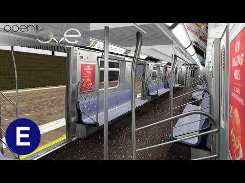 OpenBVE: (E) to Jamaica Center | R160 Alstom | Train Ride