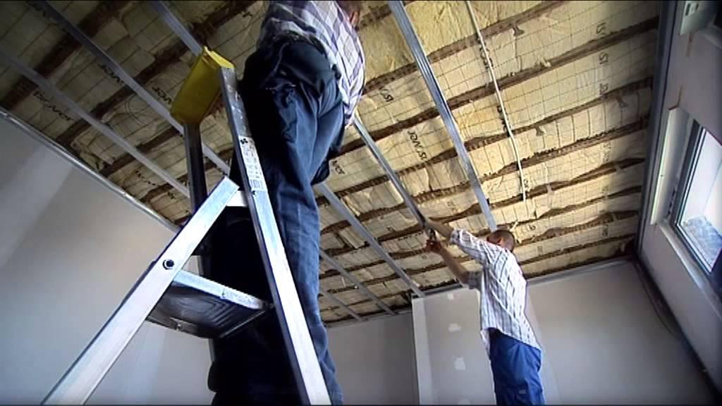Réaliser Un Plafond Plagyp S Youtube