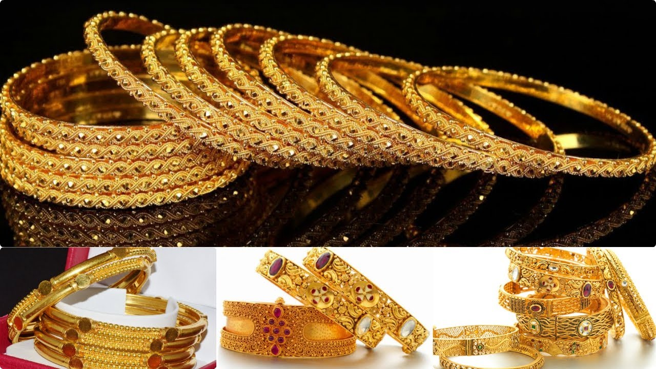6 gold bangles | gold bangle set | gold bangles design for daily use ...