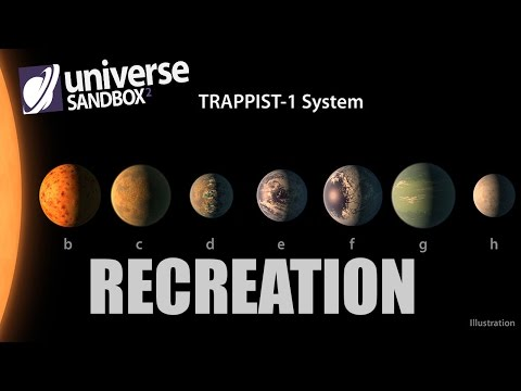 Creating Realistic TRAPPIST-1 System in Universe Sandbox 2 - NASA 2017 Discovery