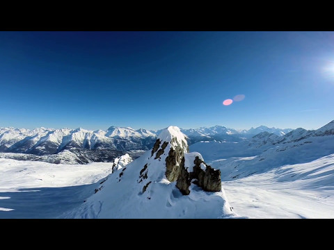 Beautiful and Amazing Aerial Footages of Snowy Mountains and Relaxing Music.