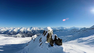Beautiful and Amazing Aerial Footages of Snowy Mountains - Sleep and Relax Music Screensaver