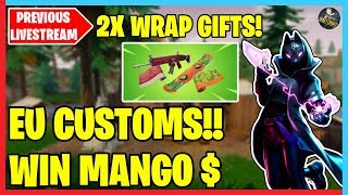 🔴 EU CUSTOMS! 2X WRAP GIVEAWAYS! | Donation Forfeits Below | Fortnite LIVE 🔴