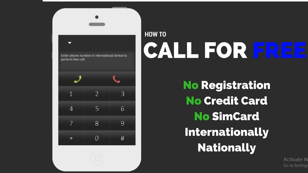 how to make free international calls from pc to mobile