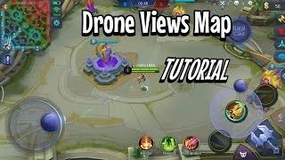 CARA DRONE VIEWS MAP ML NO ROOT 100%AMAN NO BANNED | MOBILE LEGENDS