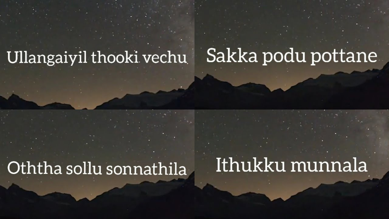Sakka podu pottane whatsapp status!Ullangaiyil thooki vachu whatsapp status!Tamil love status