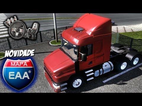 Euro Truck Simulator 2 - Mapa EAA - Retroescavadeira - Scania 124g bicuda - Com Logitech G27: GOSTOU? LIKE+FAV QUE TAMO JUNTO BIRÓSCA!  ★★★★★★★  CONFIRA O DESCRITIVO DO VÍDEO  SITE OFICIAL ► http://www.raavaz.com.br FANPAGE ► https://www.facebook.com/blogdovaz FRIENDPAGE ► https://www.facebook.com/raa.vaz TWITTER ► https://twitter.com/RaaVaz INSTAGRAM ► http://instagram.com/raavaz SKYPE ► canalraavaz RAIDCALL ► 7552764