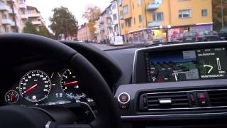BMW M6 F12 in everyday usage in slippery autumn weather in Sweden