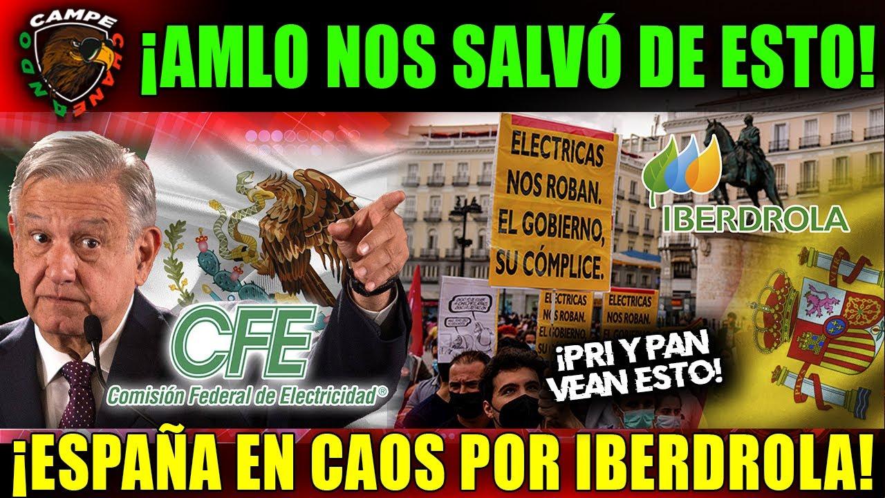 ¡ESTO NO LO PASARÁN LA TV! AMLO NOS SALVARÁ DE IBERDROLA, EN ESPAÑA ¡SALEN A PROTESTAR POR ESTO!