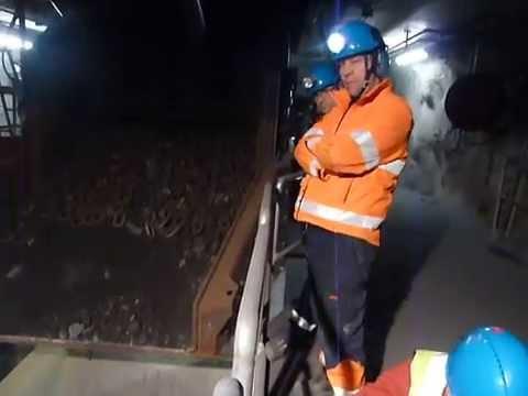 Continuous inline loading on LKAB's new underground rail haulage level (1365m) in Kiruna